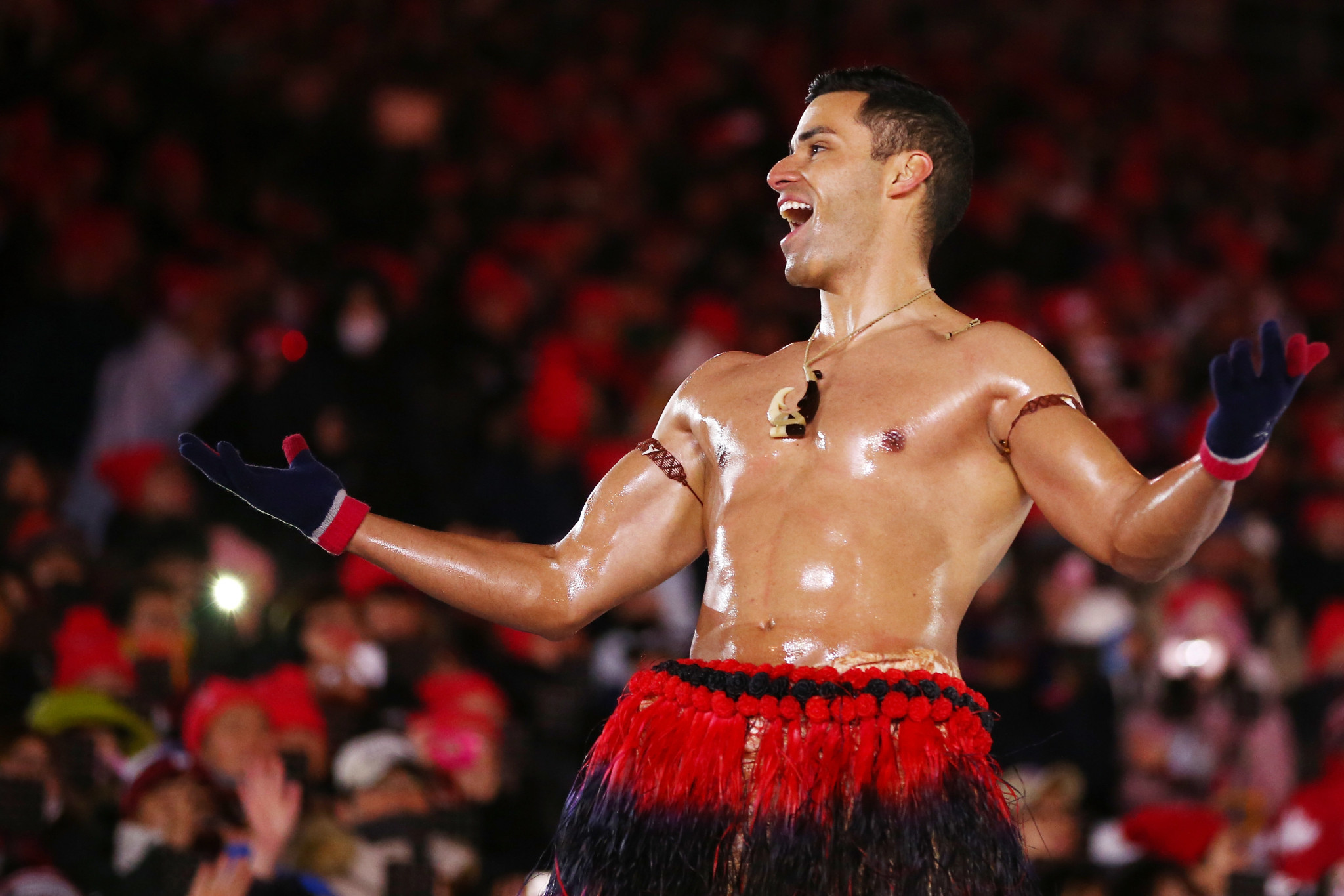 Pita Taufatofua was Tonga's flag bearer at the Rio 2016 Olympic Games ©Getty Images