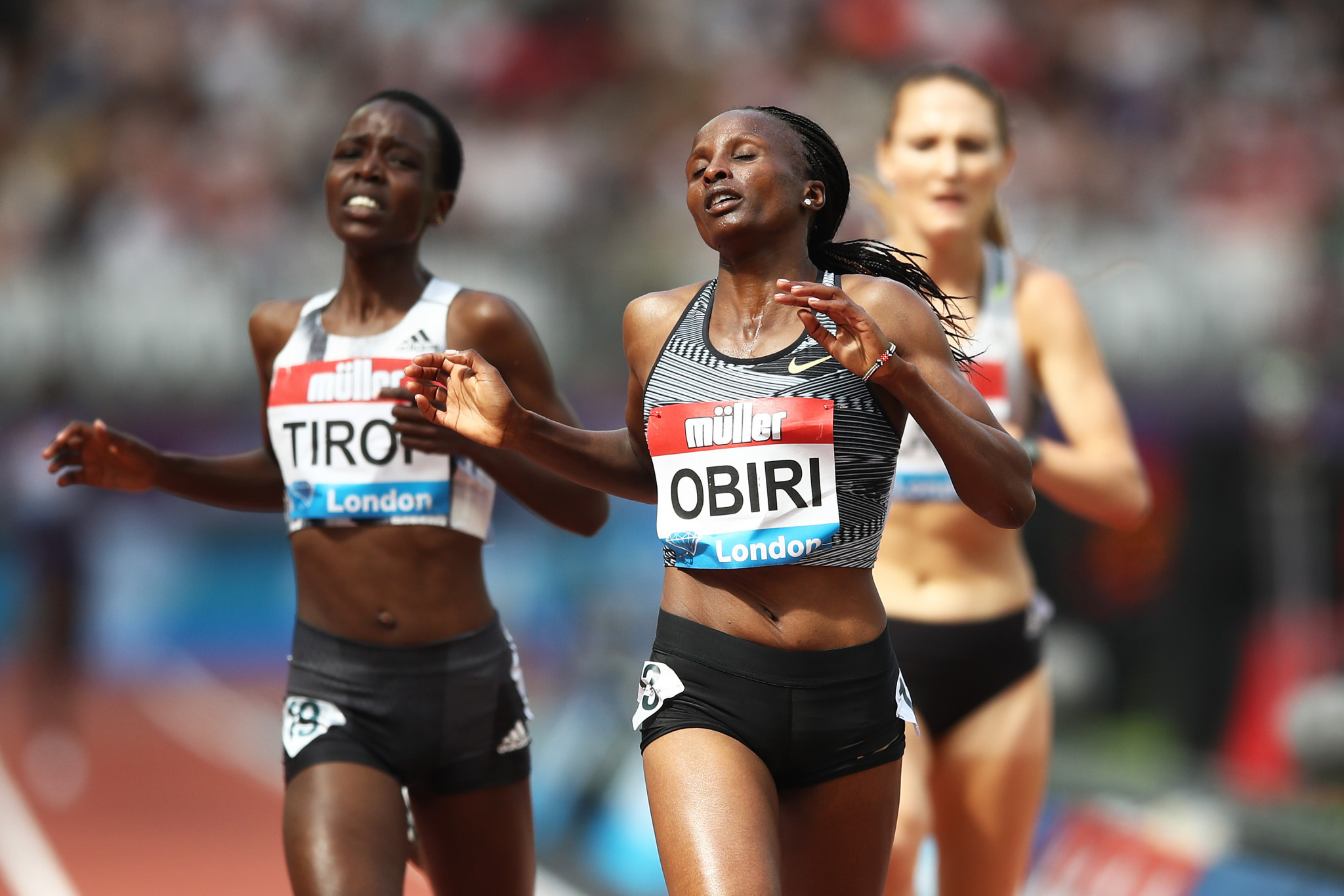 Hassan's 5,000m personal best only earns her third place at London Diamond League as Obiri wins