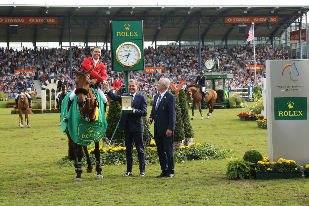 Farrington seals injury comeback with Rolex Grand Prix victory at World Equestrian Festival in Aachen