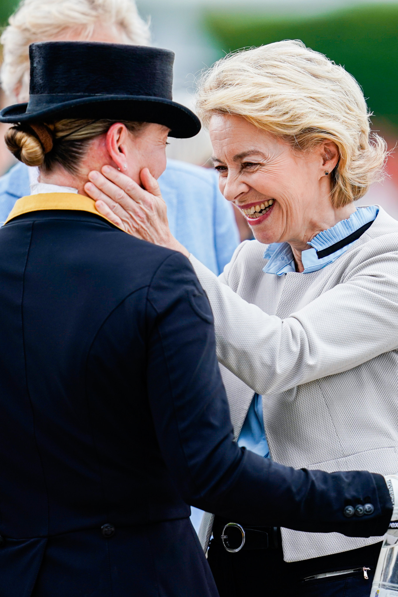 Newly-elected EU President watches Werth celebrate 50th birthday with Grand Prix win at Aachen