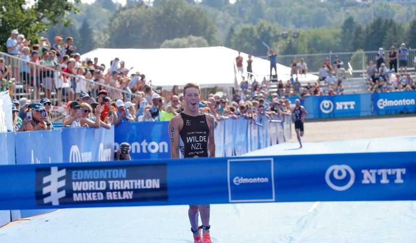 New Zealand quartet secure first mixed relay win at World Triathlon Series in Edmonton