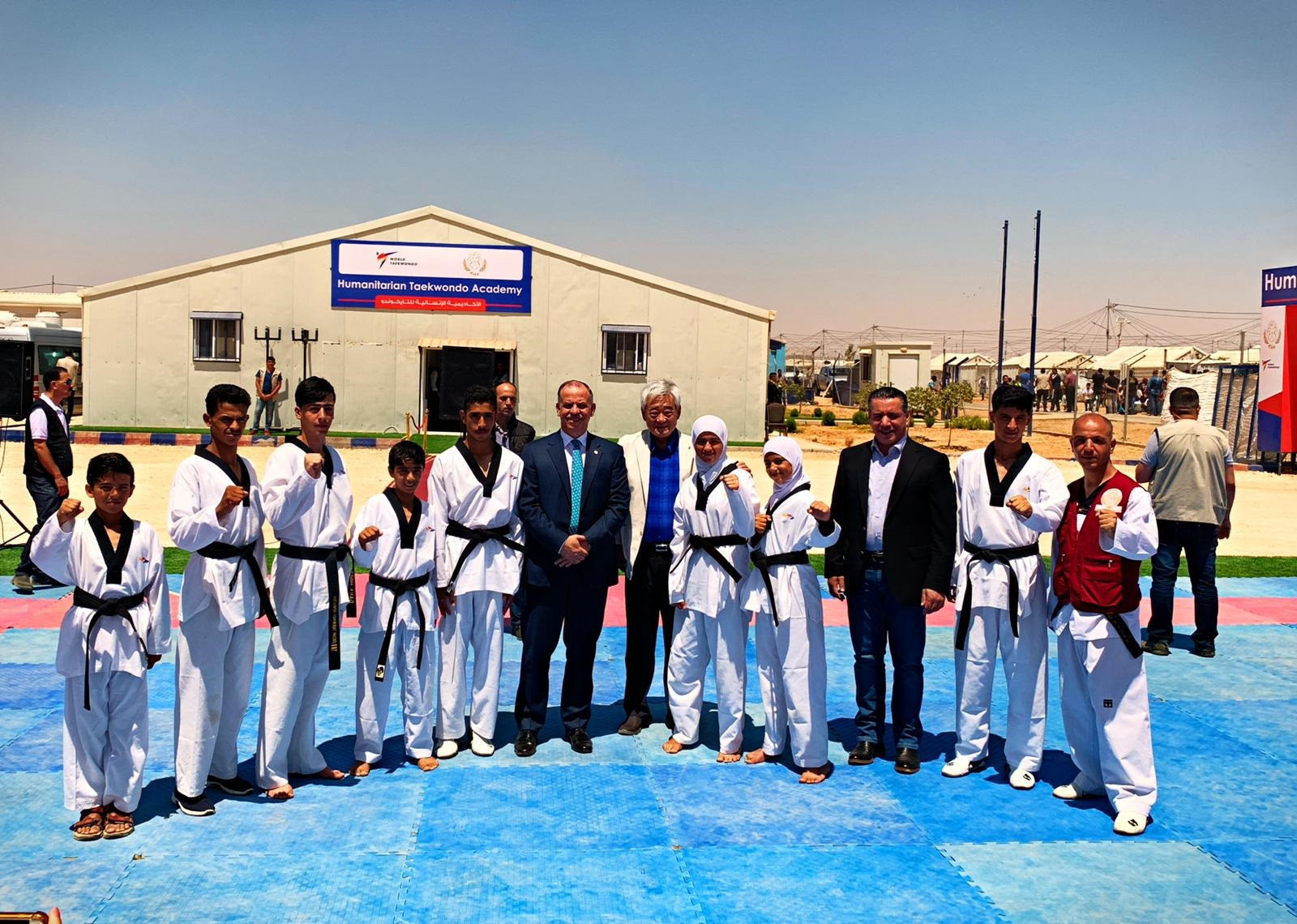 World Taekwondo, THF and United World Wrestling host historic joint event in Azraq refugee camp