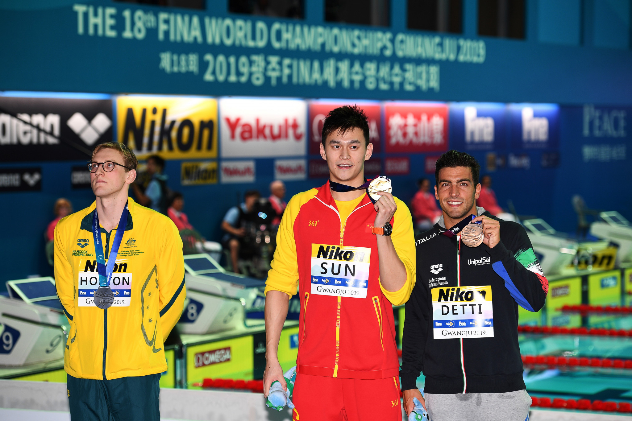 FINA send warning letter to Horton after Australian's podium protest in Gwangju