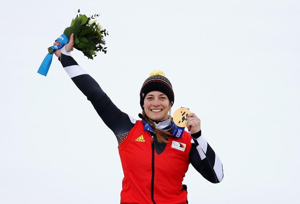 German sit skier Anna Schaffelhuber received the Best Female award ©Getty Images