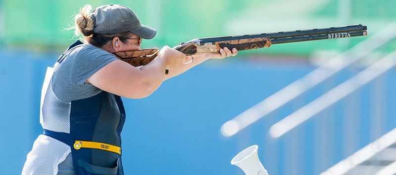 Three-times Olympic shooting champion Kim Rhode will compete at the Pan American Games for the sixth time ©ISSF