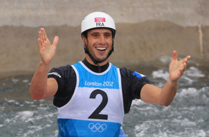 ICF vice-president Tony Estanguet, pictured winning C1 gold at London 2012, has proposed termporary slalom courses for more sustainable competition - but Tokyo 2020 is looking for a canoe slalom legacy