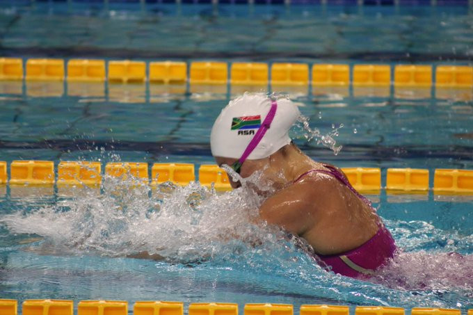 Tatjana Renske Schoenmaker became South Africa's most decorated Universiade swimmer ever at Naples 2019 ©USSA