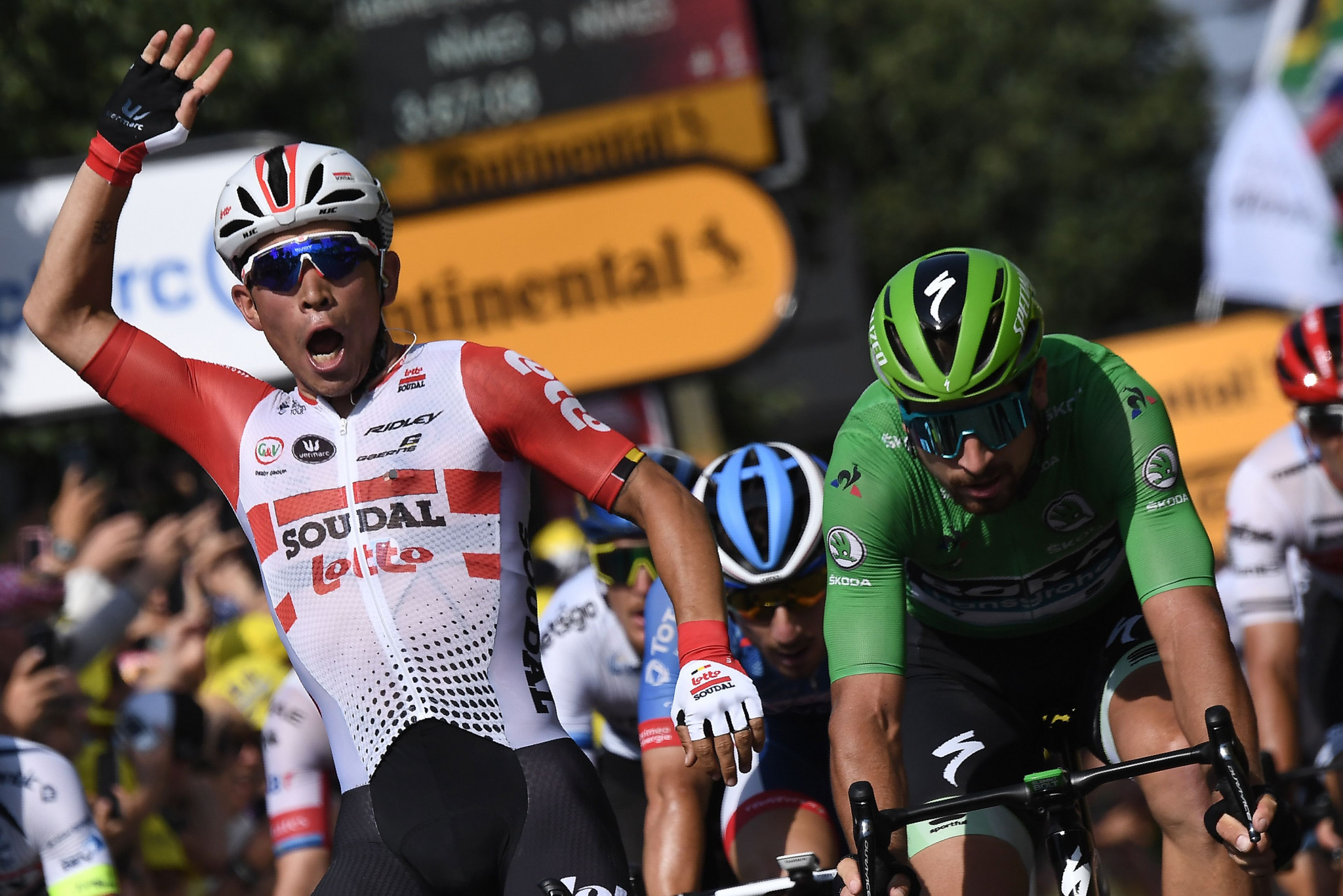 Australian Caleb Ewan claimed his second stage victory at this year's Tour de France ©Getty Images