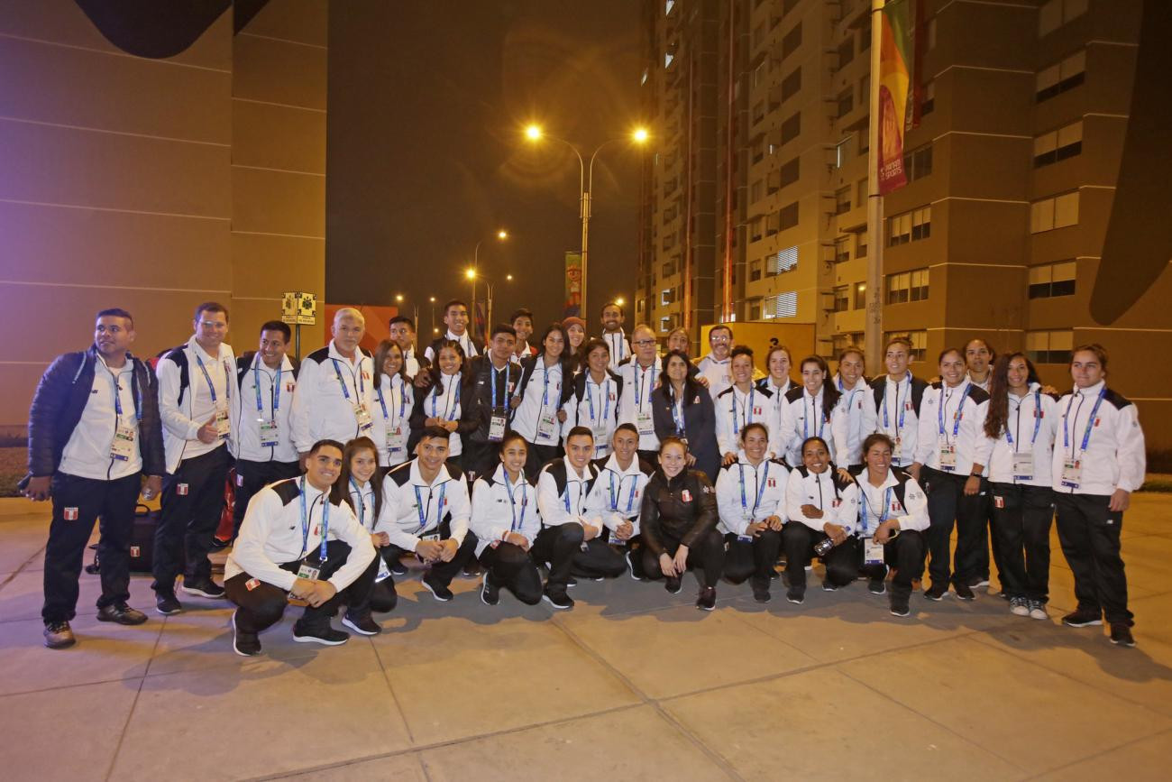 Peruvian athletes were the first to enter the 2019 Pan American Games Village in Lima ©Lima 2019
