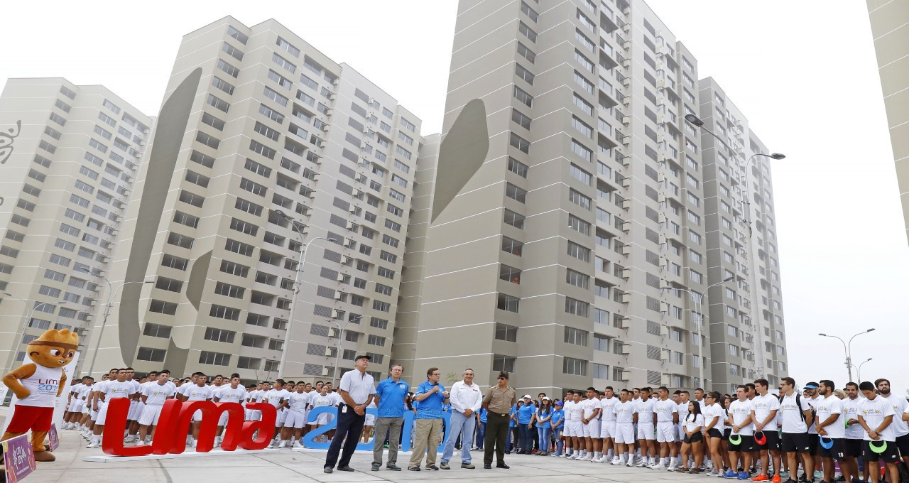 The 2019 Pan American Games Village consists of seven towers and is set to house 7,902 people ©Lima 2019