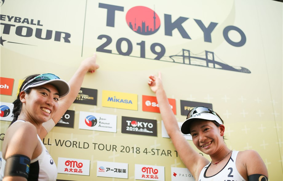 Home pair rise to occasion as Tokyo stages FIVB Beach World Tour Olympic test event