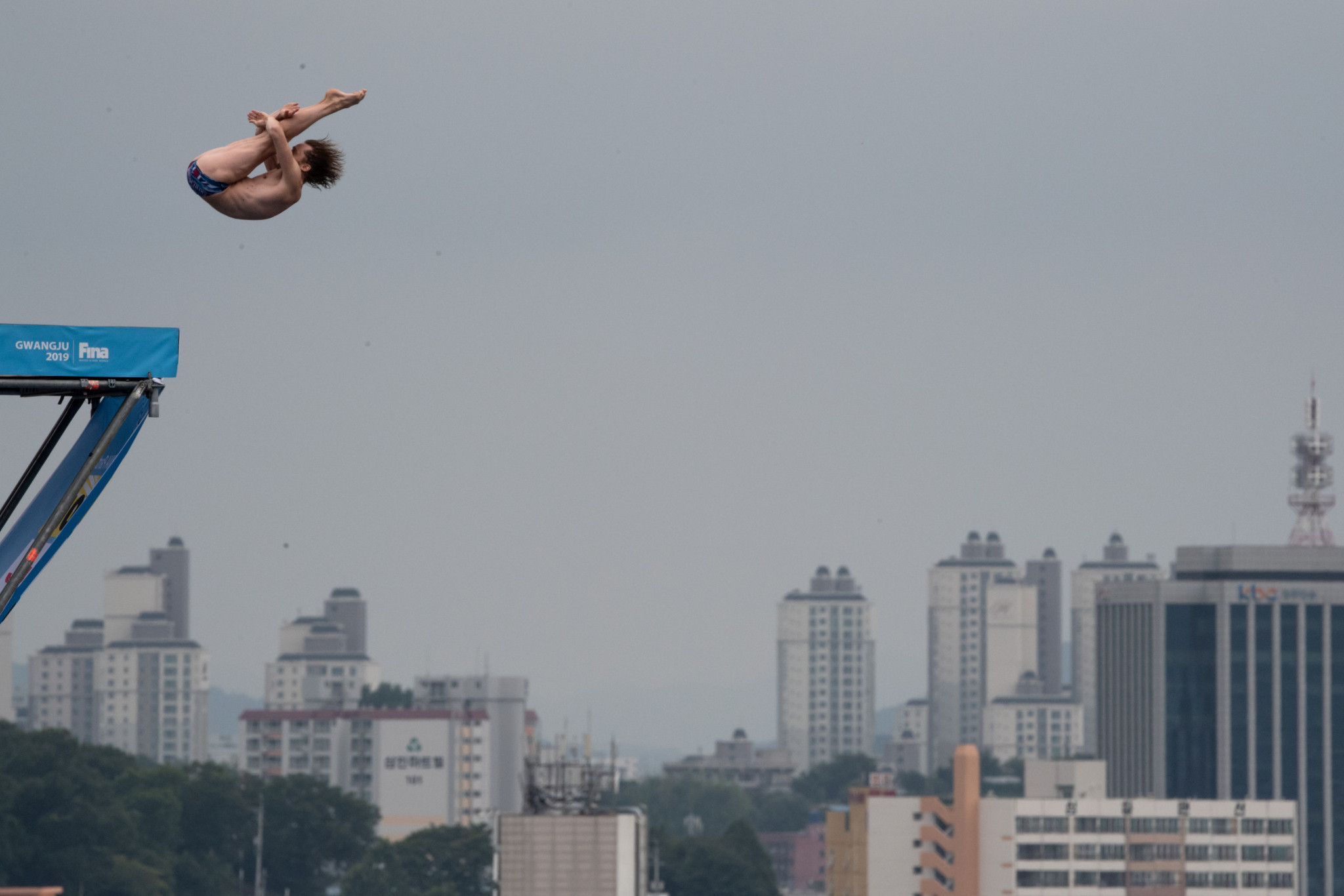 Gary Hunt of Britain won the men's high diving ©Getty Images