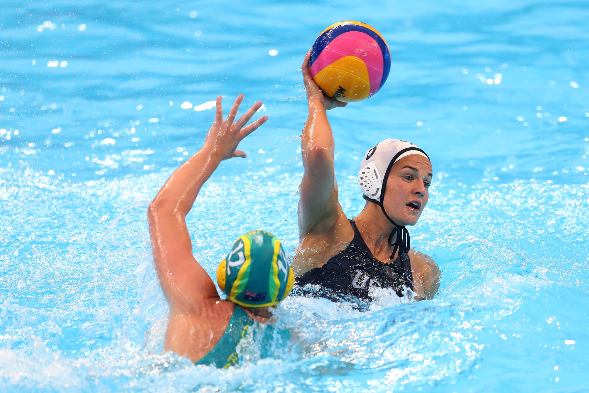 Defending champions United States reached the women's water polo final ©Getty Images