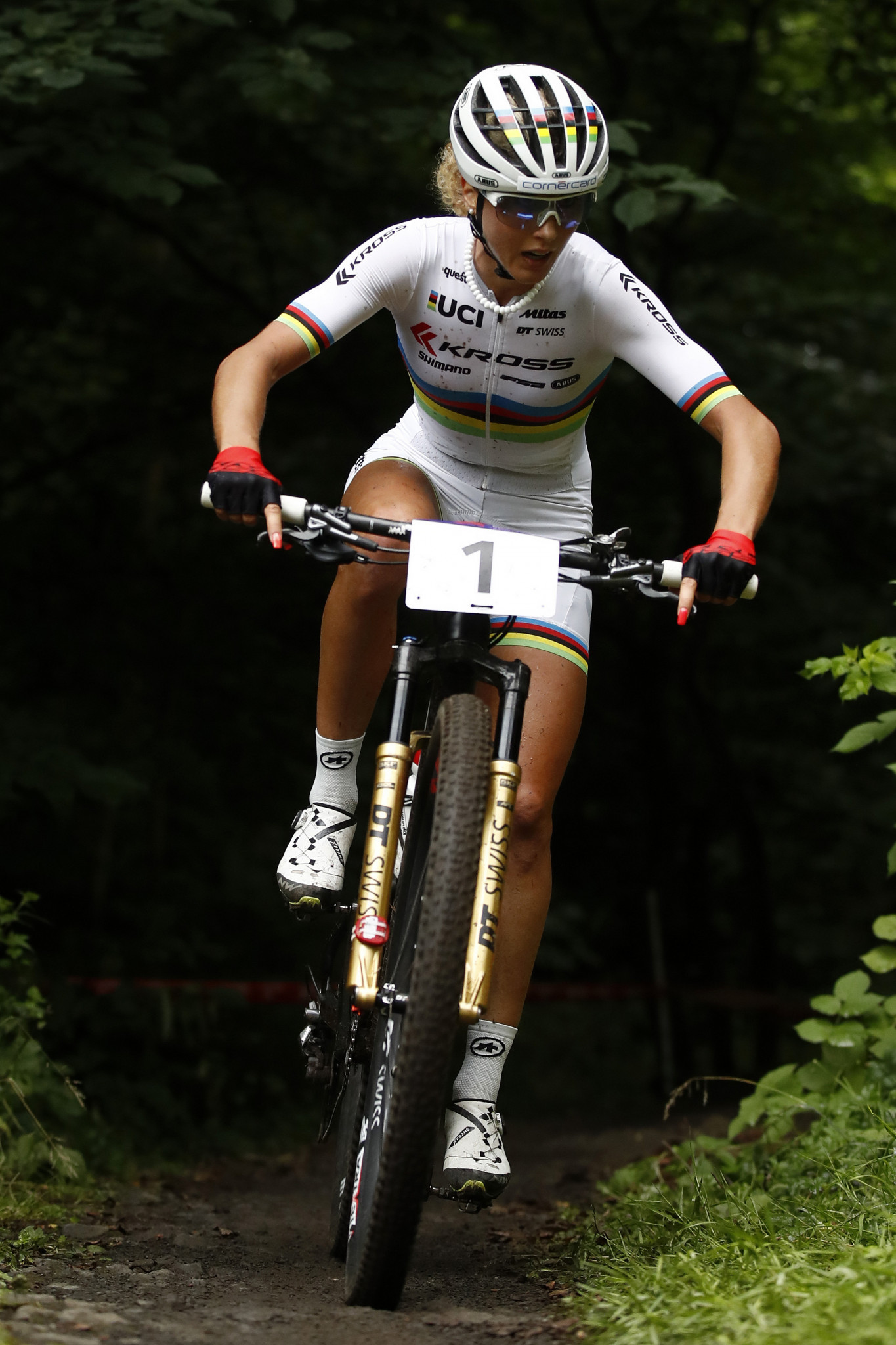 Switzerland's Jolanda Neff is expected to make a strong defence of her title at the UEC Mountain Bike European Championships that start in Brno tomorrow ©Getty Images