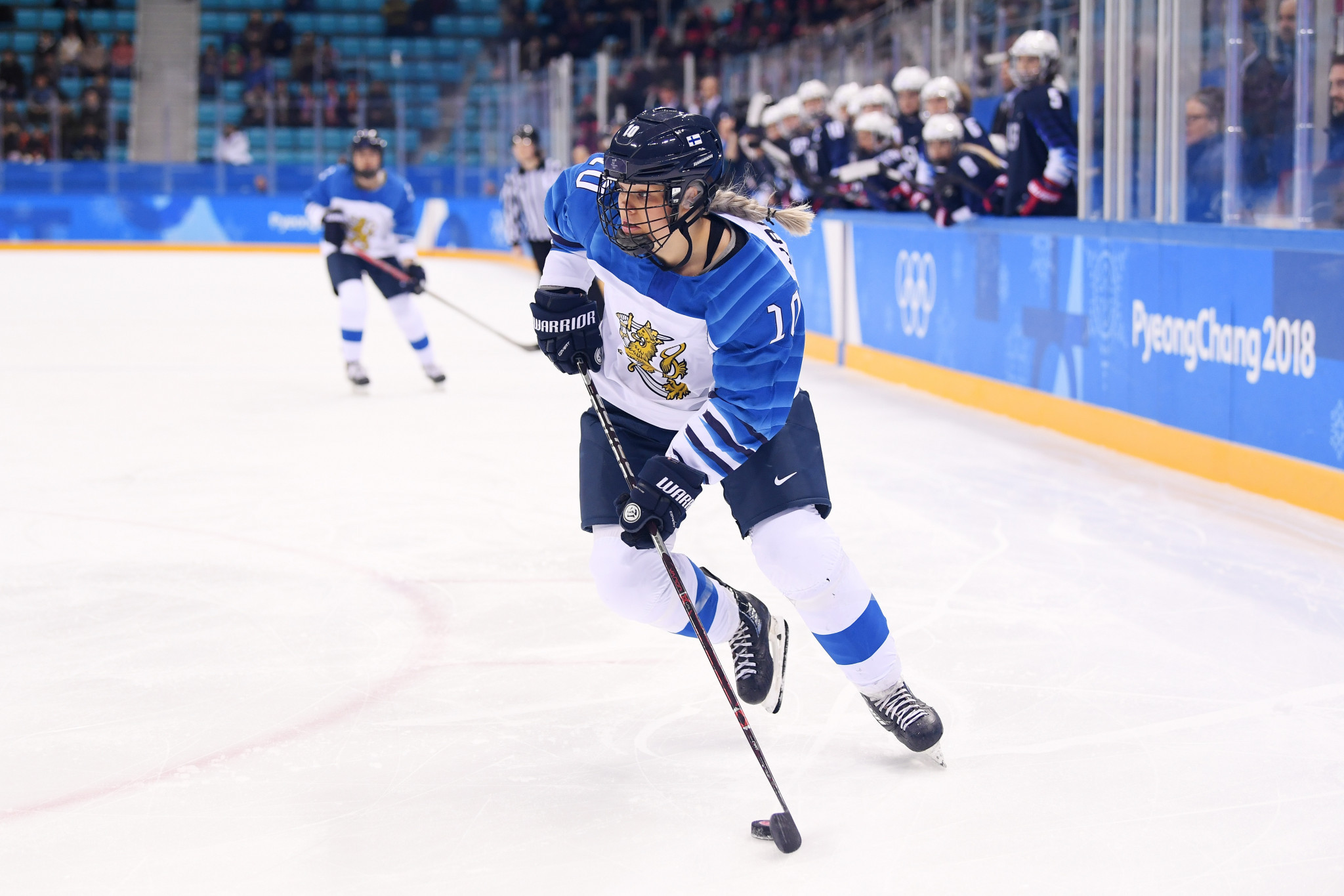 Finnish double Olympic ice hockey medallist hangs up her skates