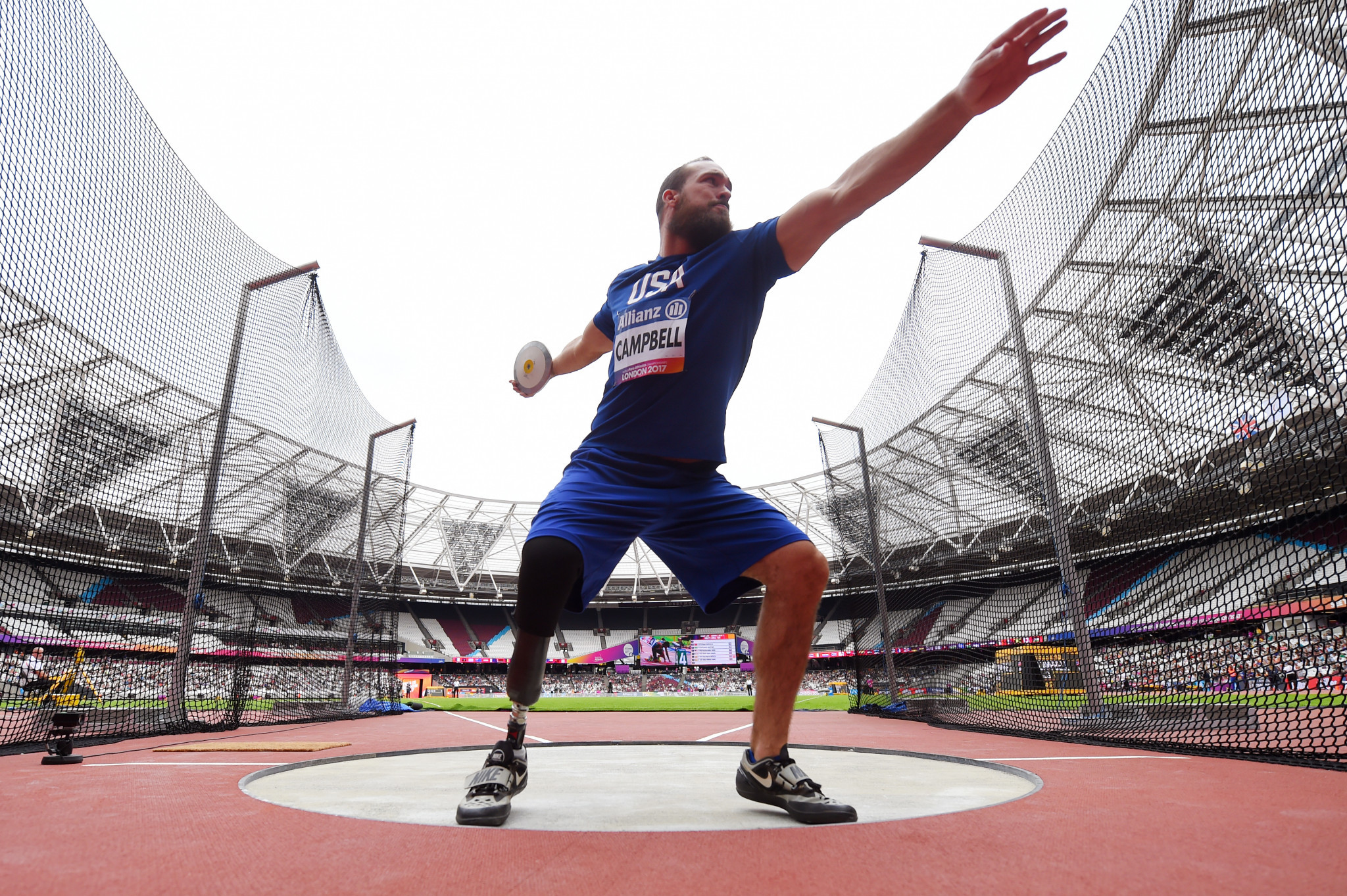 Jeremy Campbell, who has two Olympic gold medals in discus F44 and one in pentathlon P44, will compete at the Lima 2019 Parapan American Games ©Getty Images