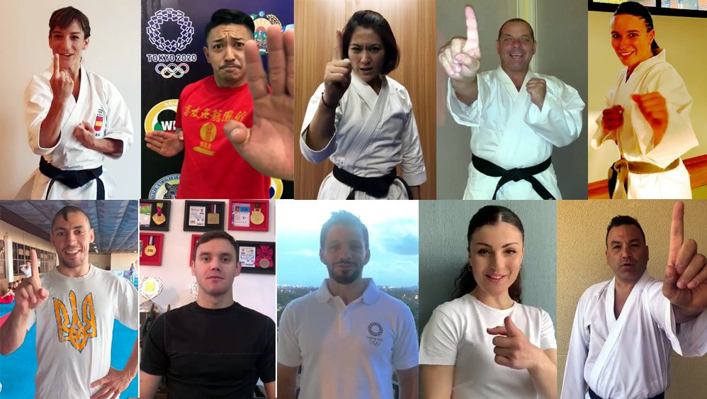 Karatekas join #1YearToGo campaign as countdown to Olympic debut at Tokyo 2020 continues
