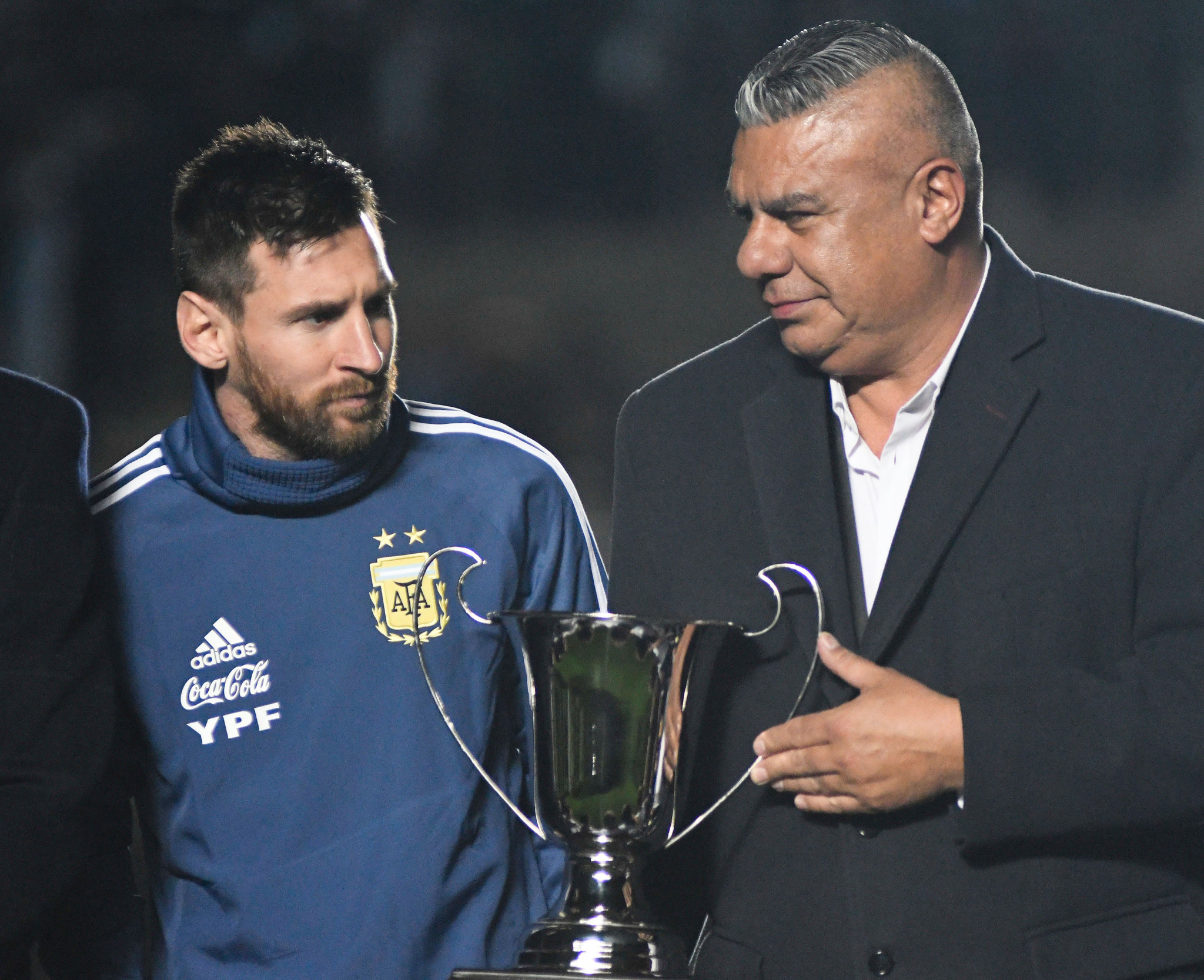 Like Lionel Messi, Claudio Tapia claimed that Argentina's hopes of Copa América glory were shattered by biased refereeing decisions during their 2-0 semi-final loss to Brazil ©Getty Images