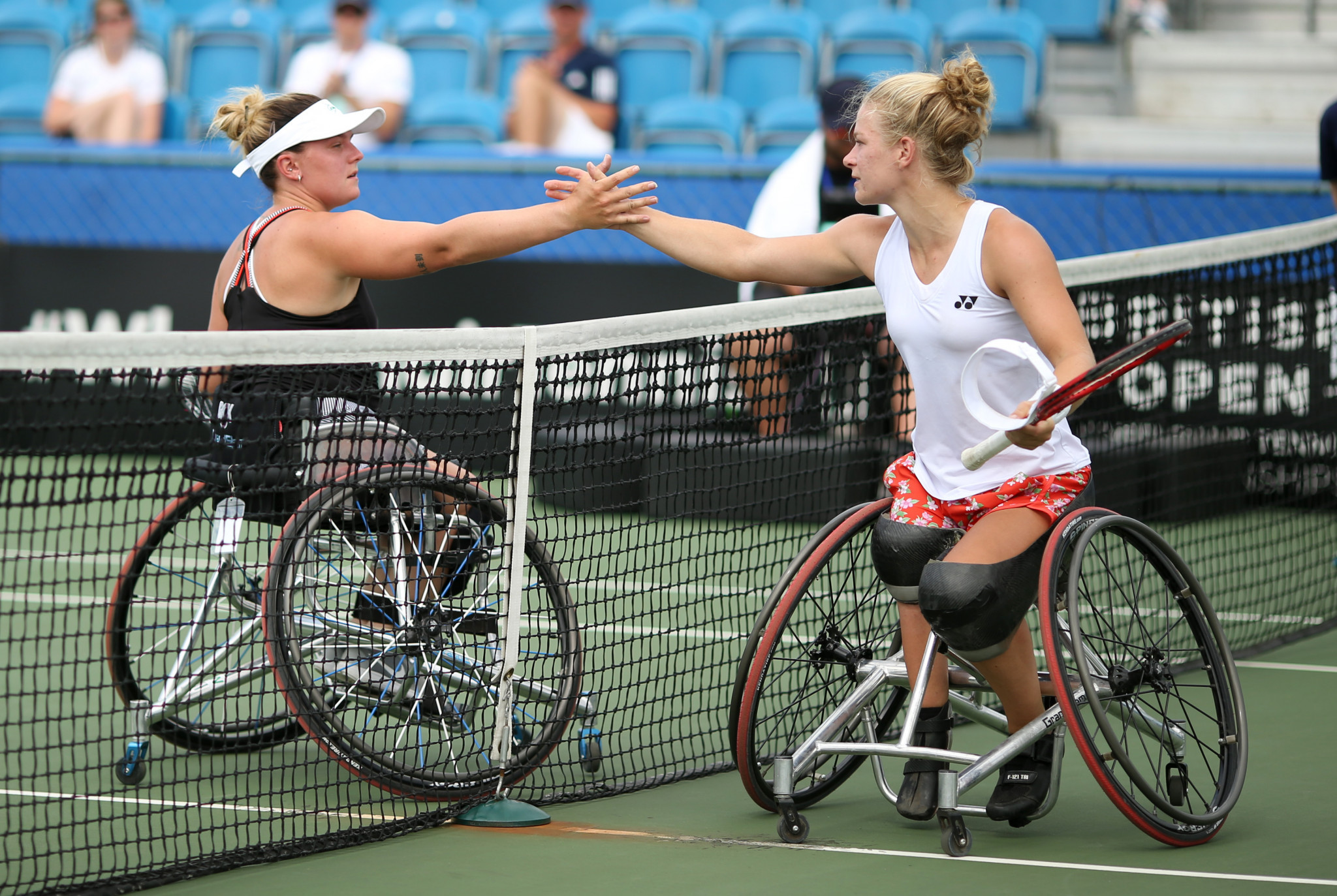 Top seed Diede de Groot of the Netherlands beat Britain's Jordanne Whiley in the quarter-finals of the women's singles ©Getty Images