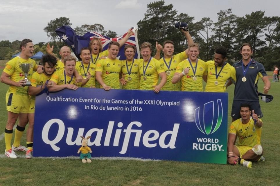 Australia cruised to the Oceania Rugby Sevens Championship title to earn a Rio 2016 spot ©World Rugby