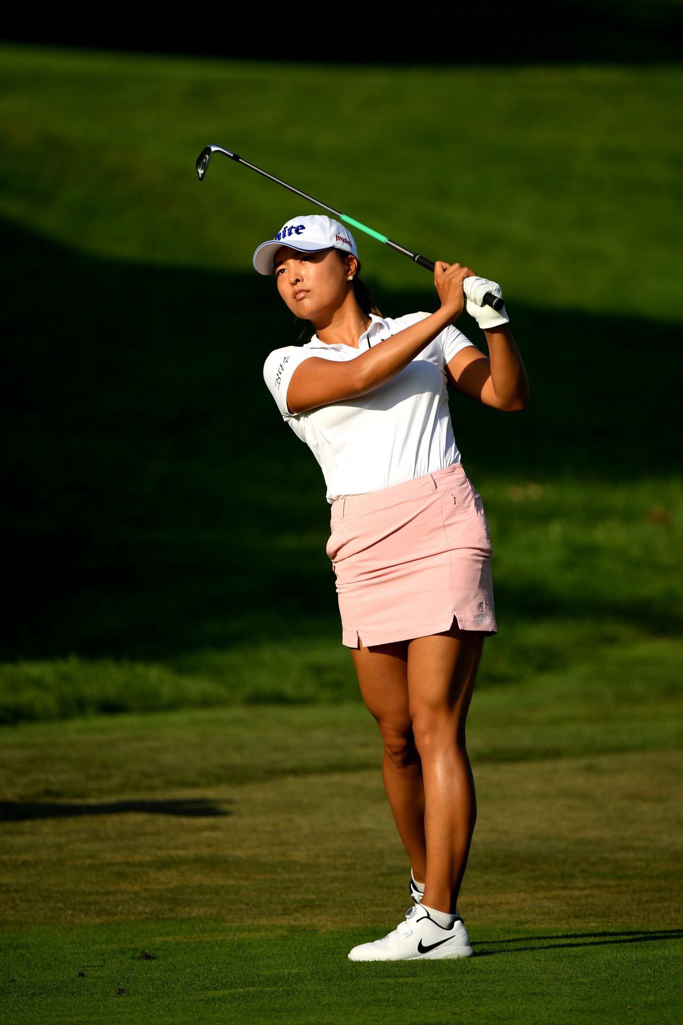 South Korea's world number two Ko Jin-young is one shot off the lead after today's first round of the Evian Championship in France, the fourth major on the women's tour ©Getty Images