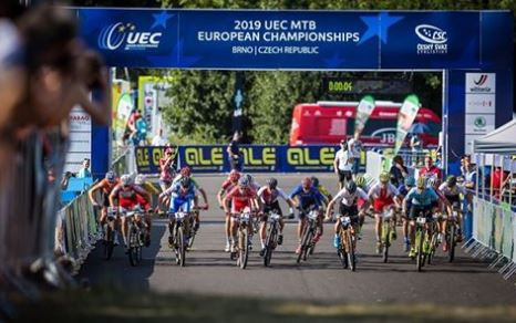 Switzerland won the team relay on day one of the European Cycling Union (UEC) Mountain Bike European Championships in the Czech venue of Brno ©UEC
