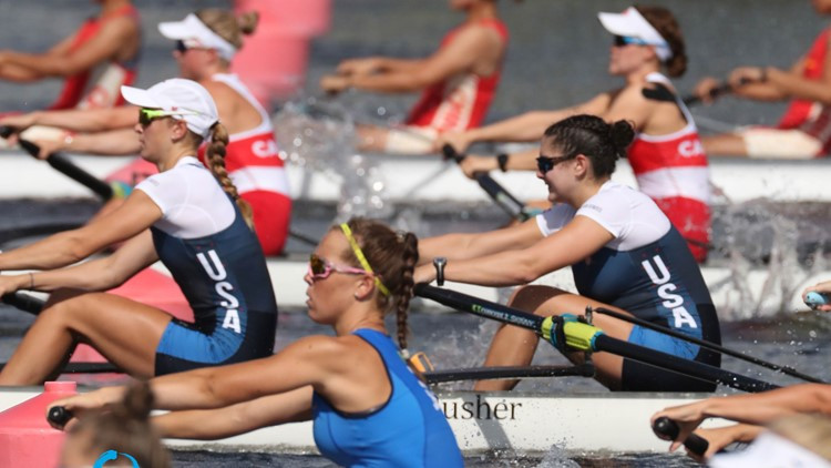Day two at the World Rowing Under 23 Championships in Florida began with heats and humidity and ended with rain, thunder and lightning ©World Rowing