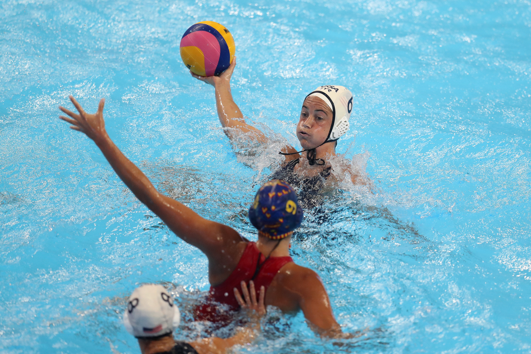 The United States claimed a record-extending sixth women's water polo title with victory over Spain ©Getty Images