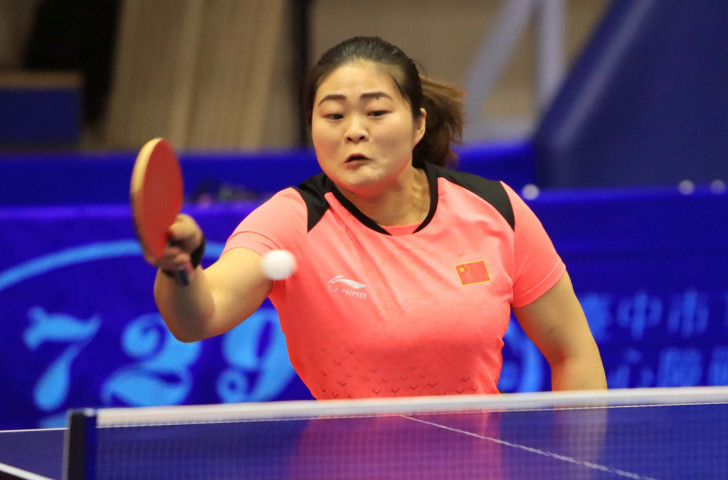 Zhou Ying added team gold to individual gold today at the ITTF Asian Para Championships ©ITTF