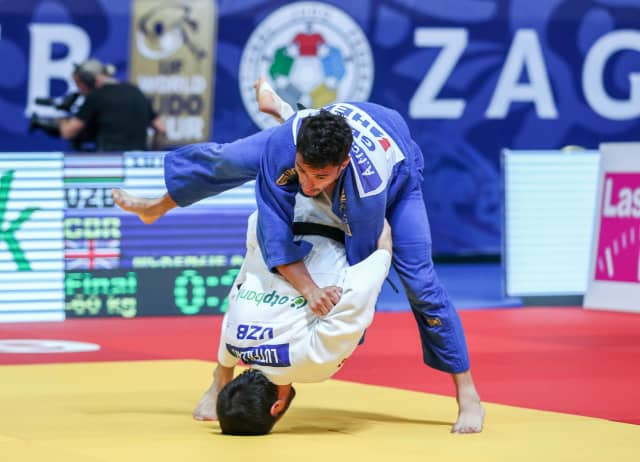 Britain's Ashley McKenzie was disqualified for a third shido penalty 15 seconds from the end of his under-60kg final at the IJF Grand Prix in Zagreb ©IJF
