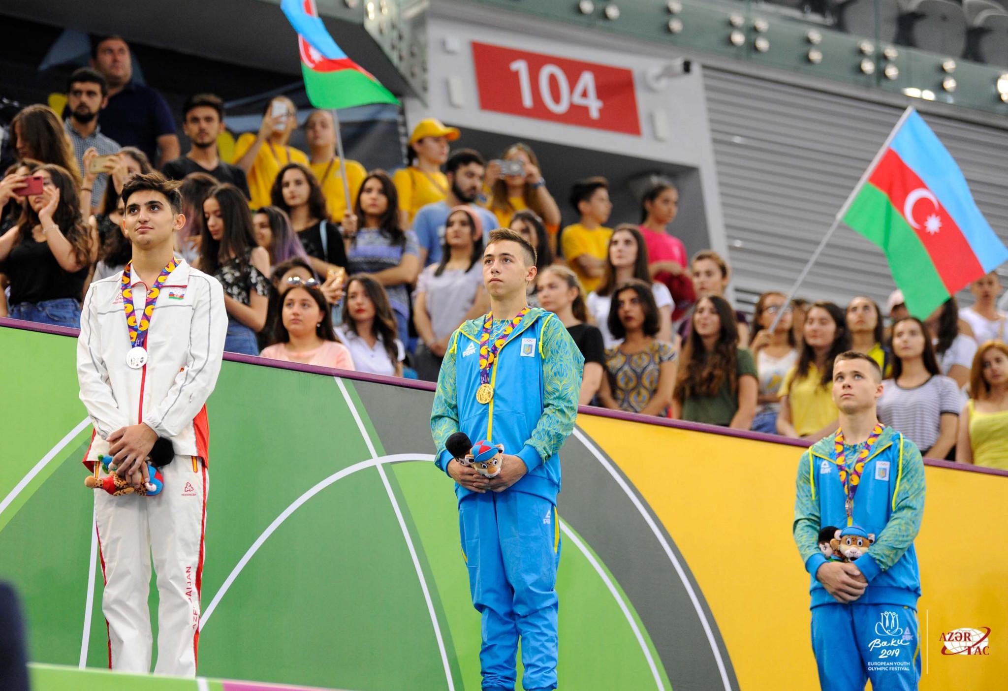 Listunova and Chepurnyi dominate artistic gymnastics apparatus finals at EYOF in Baku