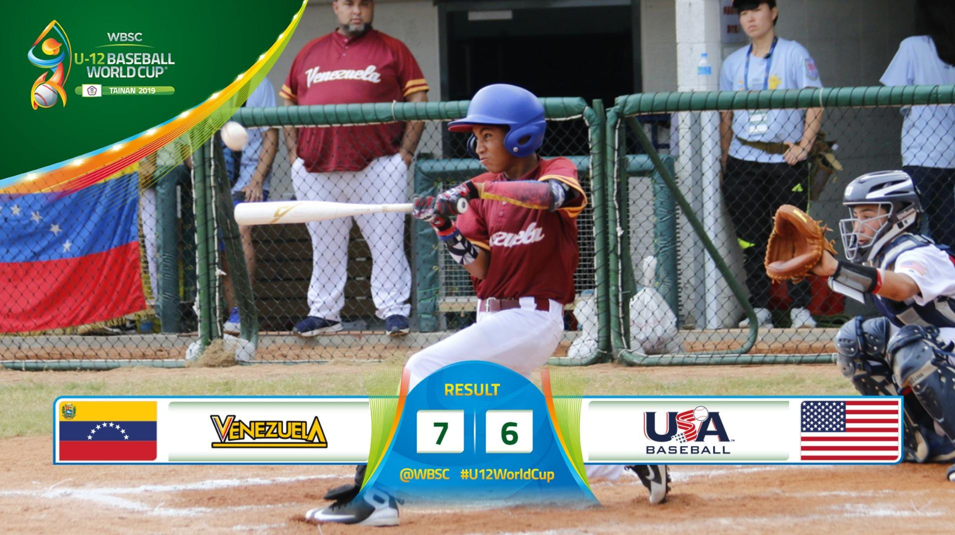 Reigning champions United States defeated at WBSC Under-12 Baseball World Cup