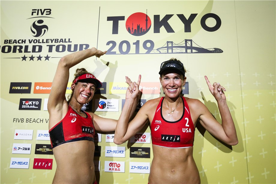 Alix Klineman and April Ross of the United States reached their third consecutive World Tour final of a four-star event doubling as the sport's test event for Tokyo 2020 ©FIVB