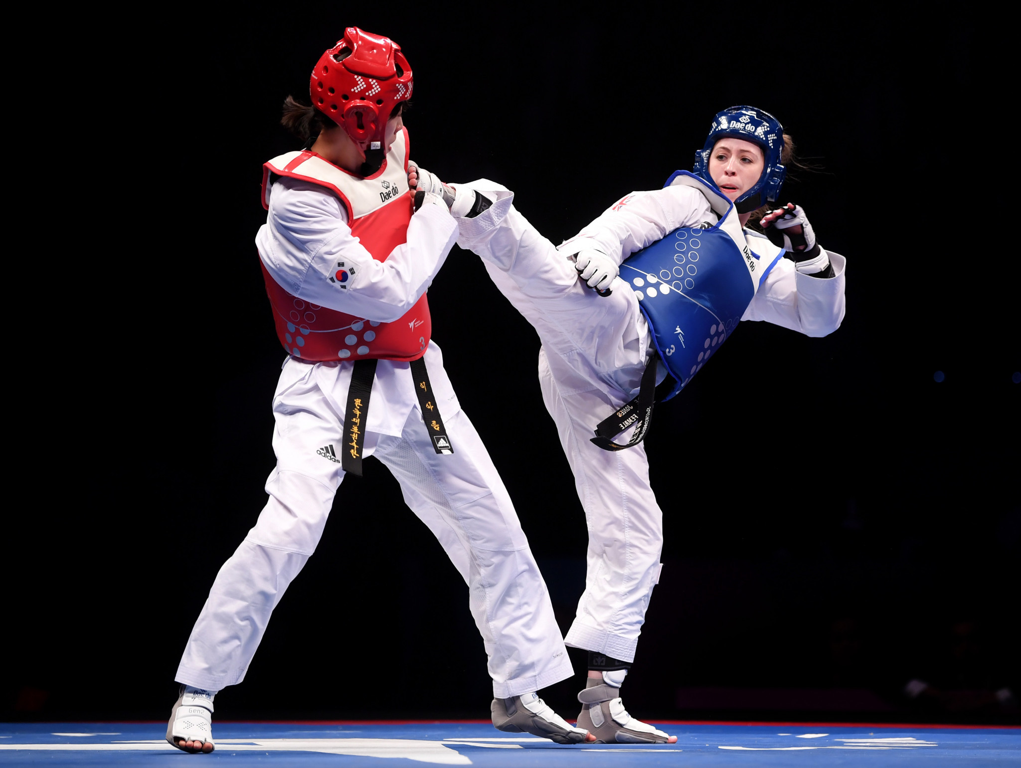 Jade Jones defeated South Korea's Lee Ah-reum to win the world title in May ©Getty Images