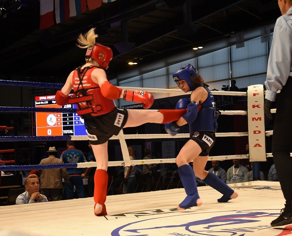 The newly-renamed International Federation of Muaythai Associations has changed its logo to include a female fighter - an important step towards gender equality, they claim ©IFMA