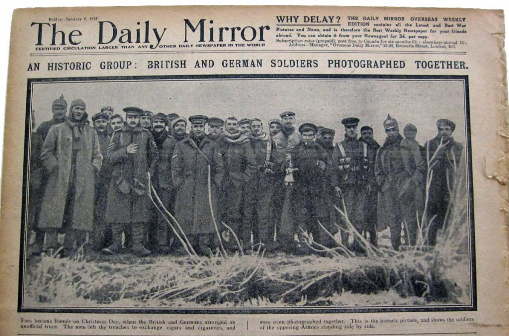 The Christmas Day Truce in 1914, where British and German soldiers allegedly played football together, is one of history's best quoted examples of sport as a force for good ©Daily Mirror