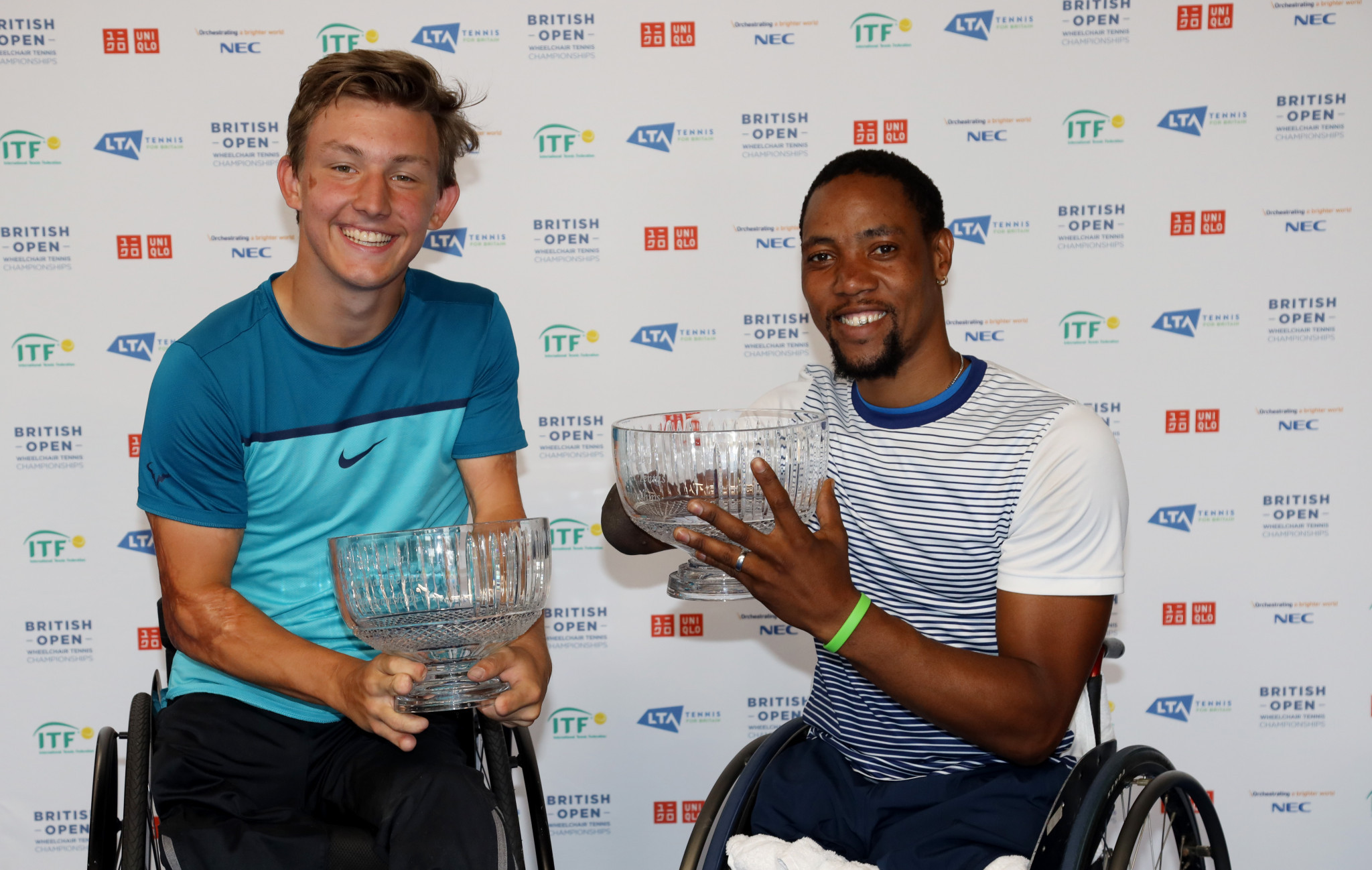 Sixteen-year-old Vink victorious in quad doubles final at rain-affected British Open Wheelchair Tennis Championships