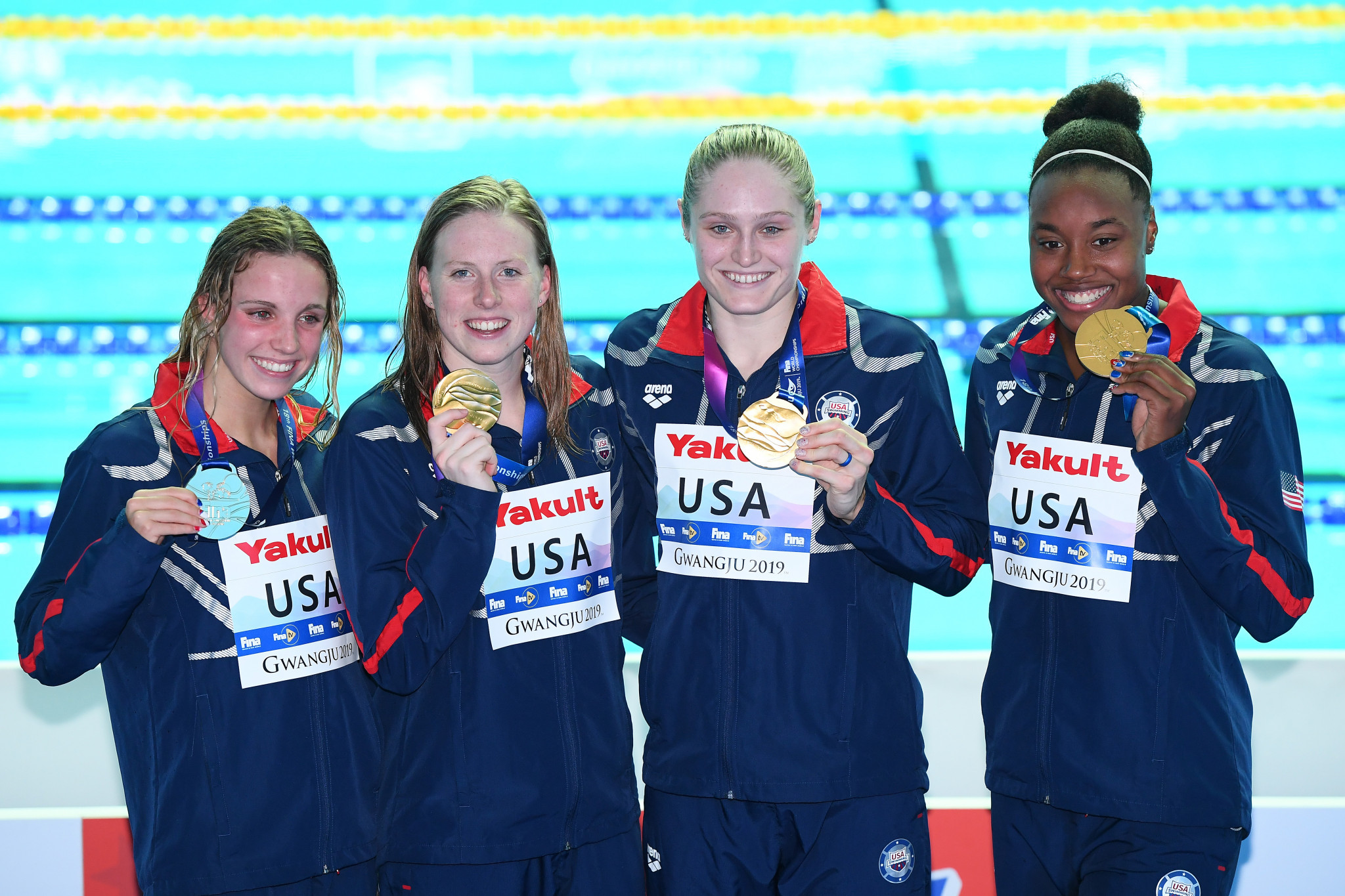United States break women's medley world record for 13th gold on 2019 World Aquatics Championships final day