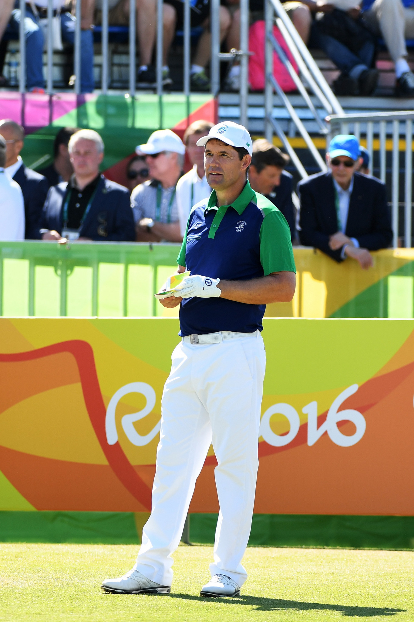 Pádraig Harrington, Open champion in 2007 and 2008, represented Ireland at Rio 2016 along with Séamus Power after Shane Lowry and Rory McIlroy turned down the opportunity ©Getty Images