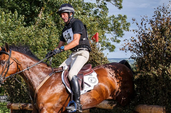 Sir Mark Todd, 63, helping New Zealand to victory in today's FEI Nations Cup Eventing in Ireland in what he later announced would be his final event - unless he changes his mind for a second time ©FEI