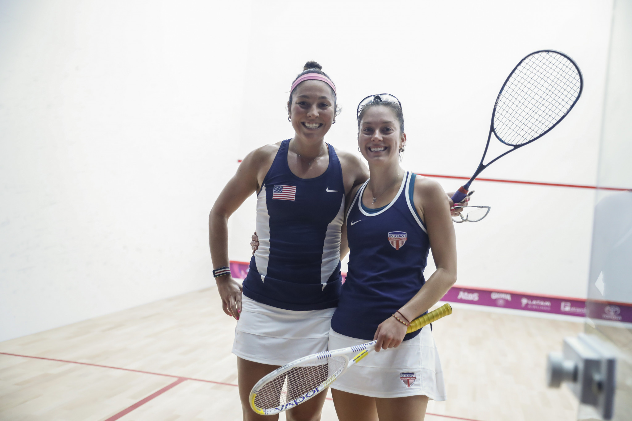 Sisters Amanda and Sabrina Sobhy of the United States earned gold in the women's squash doubles ©Lima 2019