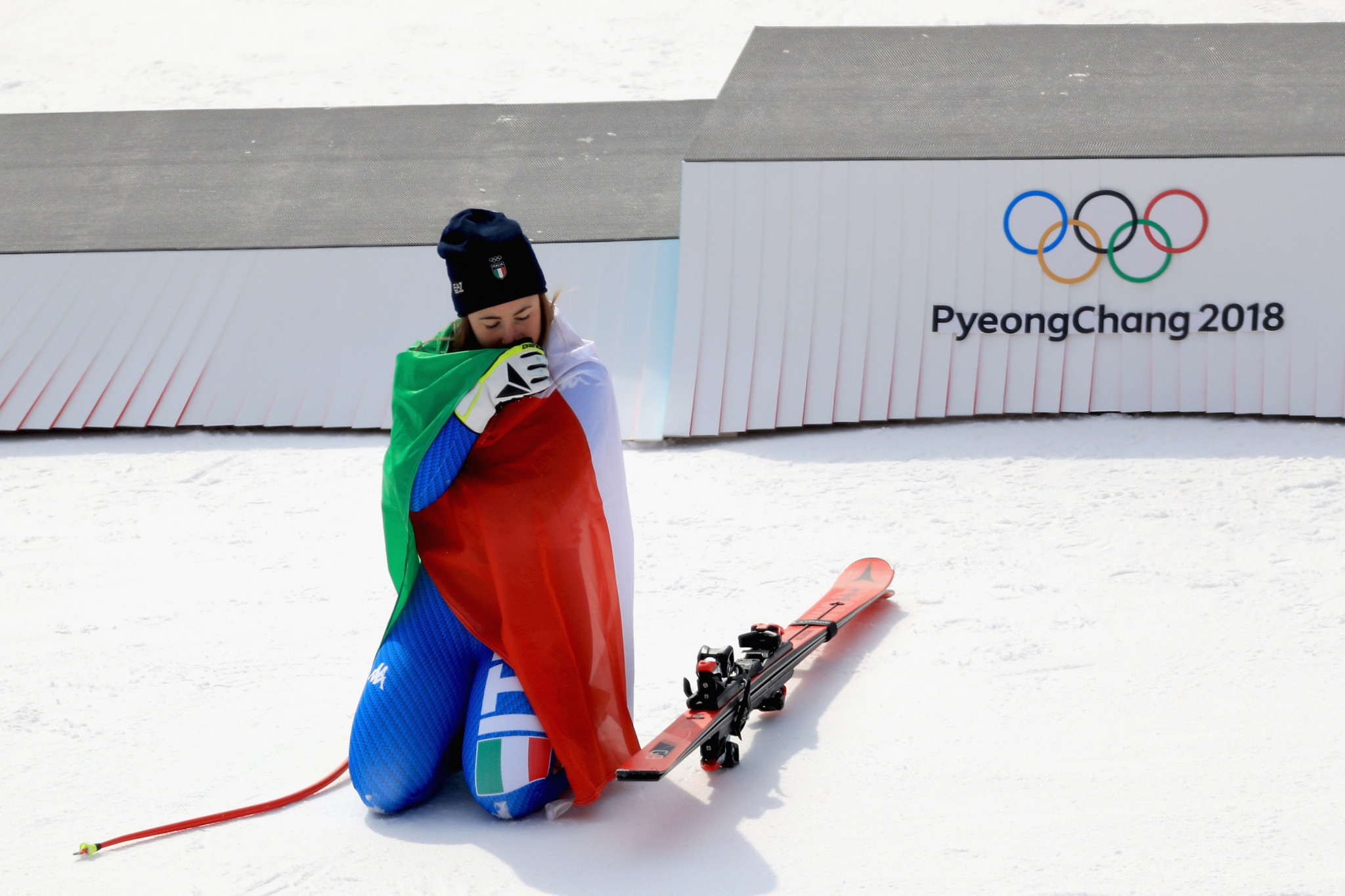 Sofia Goggia won her Olympic title at Pyeongchang 2018 ©Getty Images