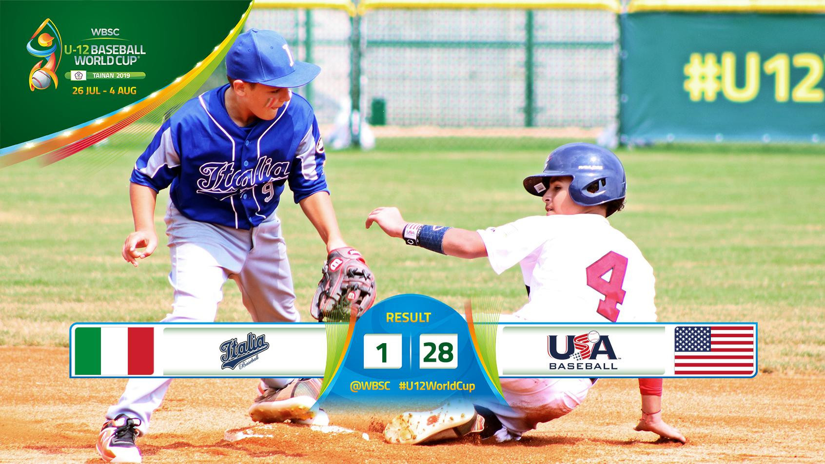 United States bounce back with big victory at WBSC Under-12 World Cup