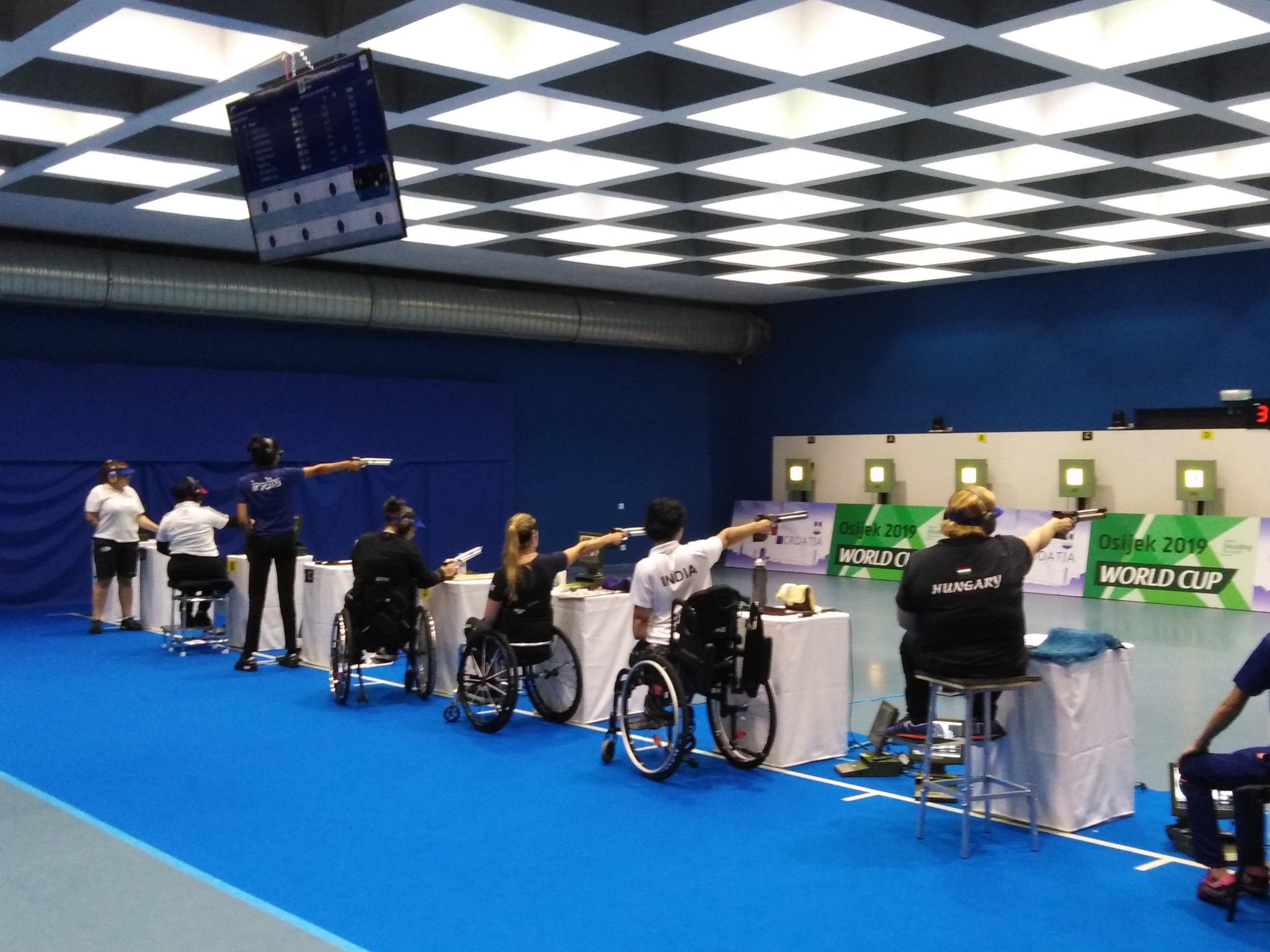 Action from the women's 10 metres air pistol SH1 final ©World Shooting Para Sport/Twitter