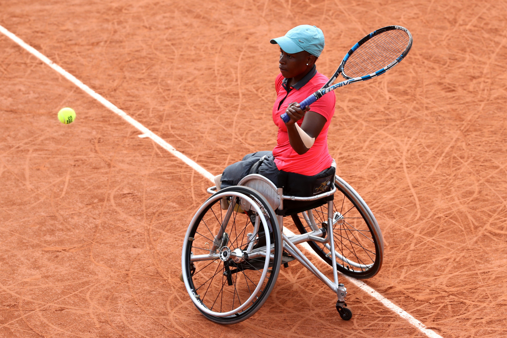South African Kgothatso Montjane has praised the ITF's wheelchair tennis development plan ©Getty Images