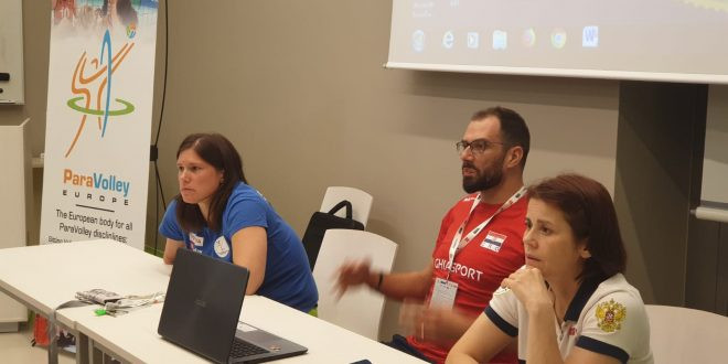Ways to improve the classification system were discussed at an open meeting of the PVE Athletes' Commission ©ParaVolley Europe