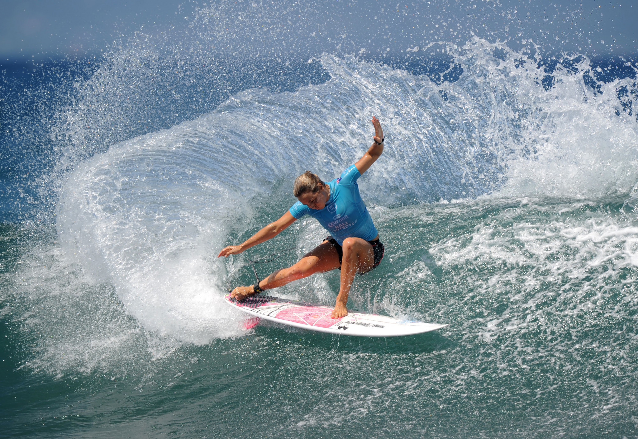 Australia's Sally Fitzgibbons will be among the favourites for gold at the International Surfing Association World Surfing Games in September ©Getty Images