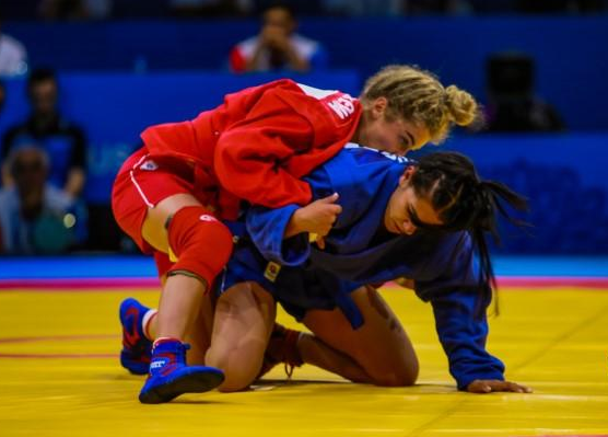 Sambo featured at the recent European Games in Minsk ©FIAS