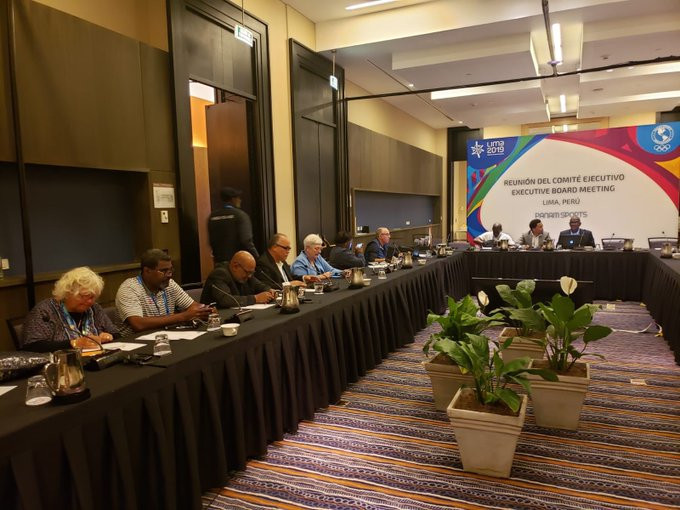 Caribbean Association of National Olympic Committees Day was celebrated during the Lima 2019 Pan American Games ©CANOC