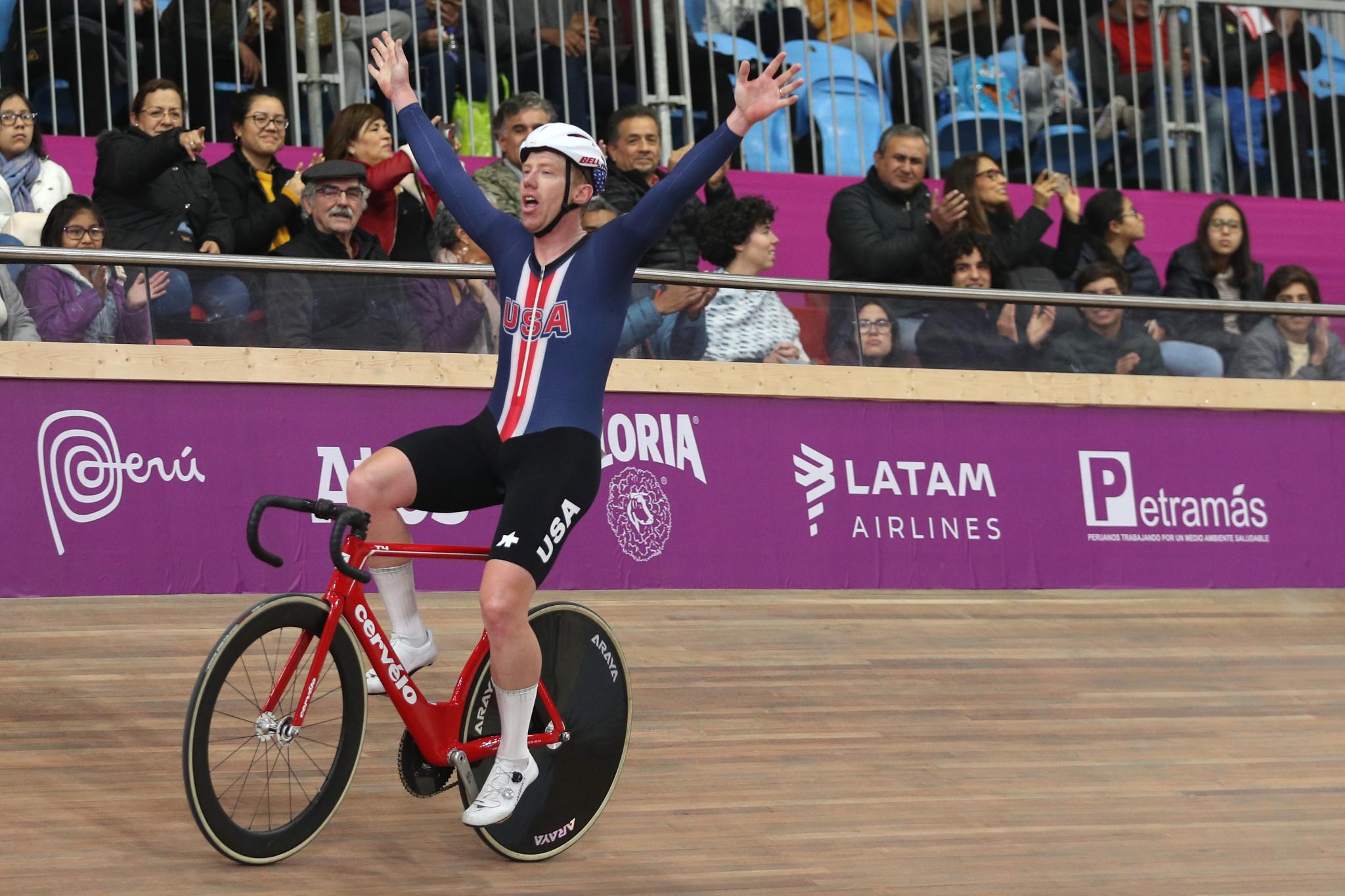 Daniel Holloway won the men's omnium title ©Getty Images